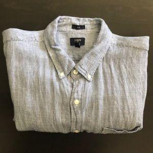 J. Crew Men's Long Sleeve Button Down Shirt - XL